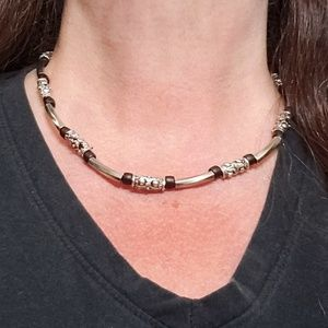 Jewelry - Unisex Necklace Silver & Black